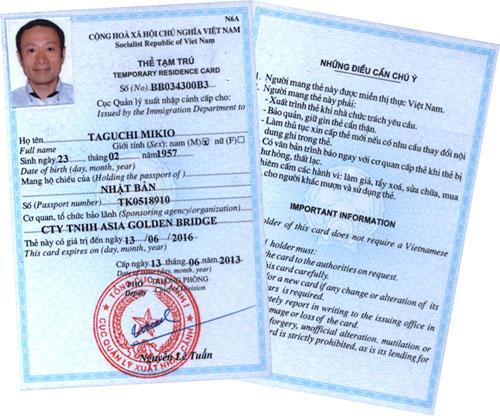 Kết quả hình ảnh cho đăng ký tạm trú cho người nước ngoài